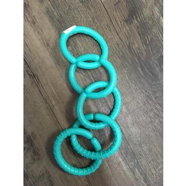 Re-Play Re-Play Recycled Plastic Links set of 5 Aqua