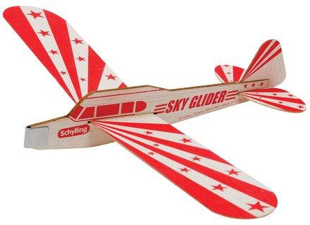 Schylling Sky Glider Balsa Wood Toy Airplane