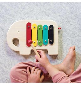 Petit Collage Elephant Shaped Wooden Xylophone