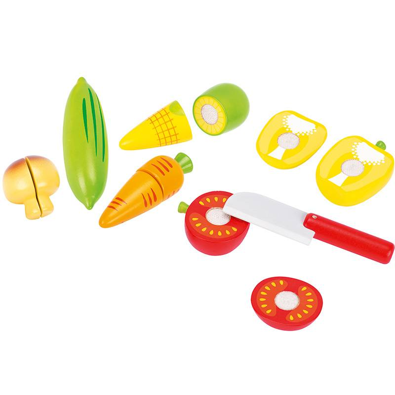 Goki Wooden Cutting Food Set