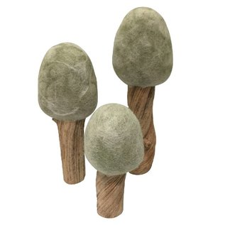 Papoose Wool Felt + Wood Trees by Papoose
