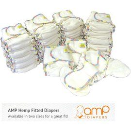 AMP Hemp Fitted Cloth Diaper by AMP