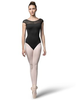 Bloch Bloch Sweetheart Check Mesh Cap Sleeve Leotard L9802