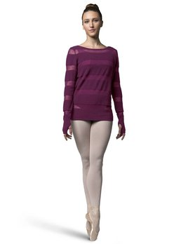 Bloch Bloch Sheer Stripe Knit Sweater Z7219