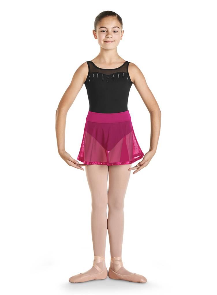 92e5f2eab Bloch Diamante Ribbon Trim Skirt CR9541 - Black and Pink Dance Supplies,  Tulsa