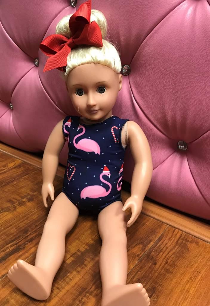 BP Designs BP Designs Santa Hat Flamingo Doll Leotard