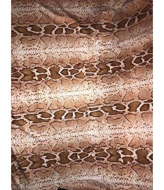 Tan Snake Print Stretch Fabric