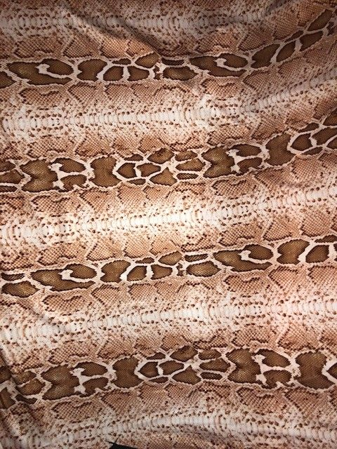 Tan Snake Print Stretch Fabric