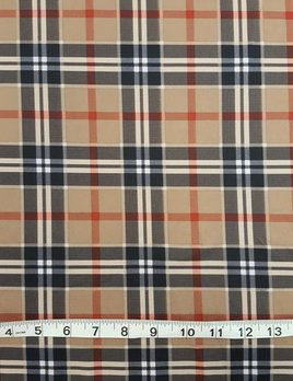 SPANDEX HOUSE Stretch Plaid Fabric
