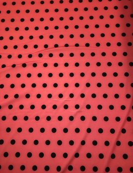 Salmon Dots Print Fabric