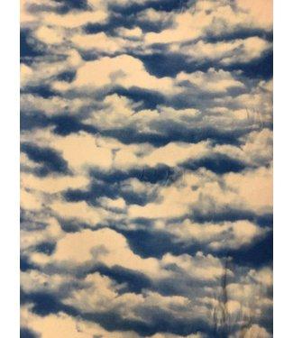 Cloud Print Stretch Fabric