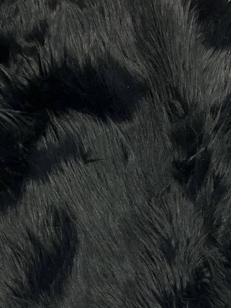 black faux fur