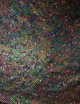 Aurora Rainbow Sequin Mesh