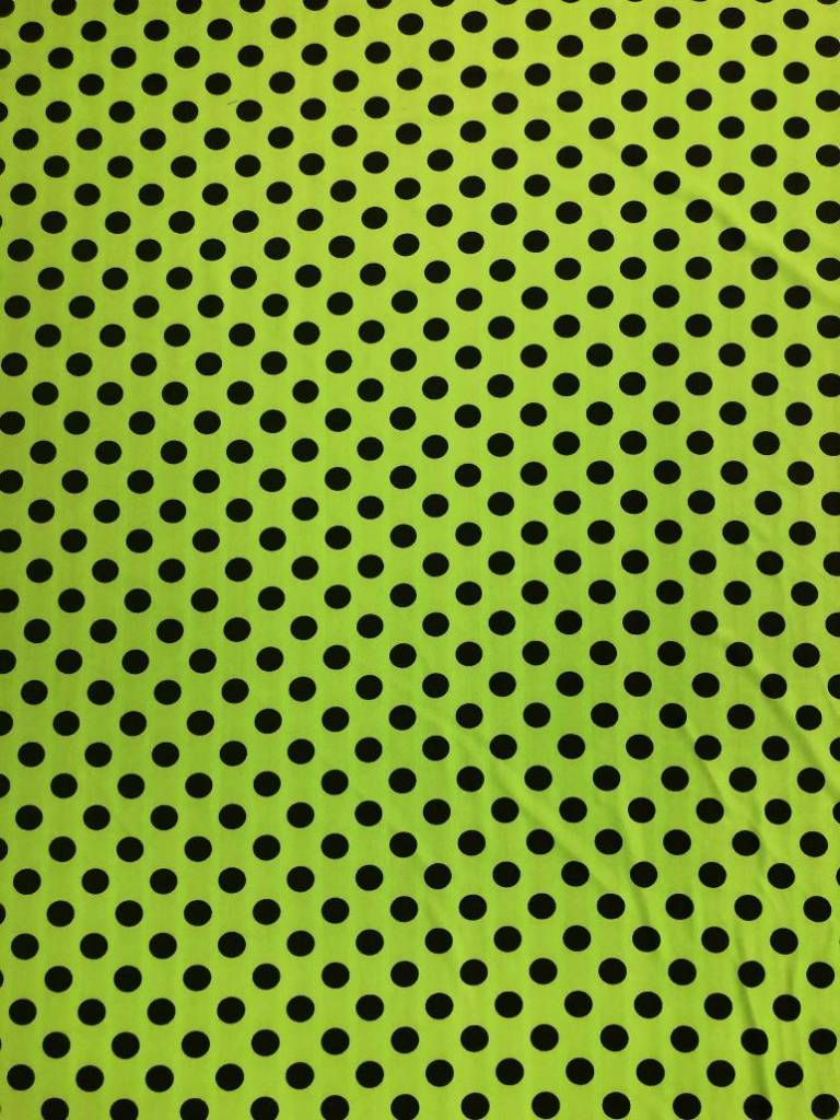 Neon Green Black Dot