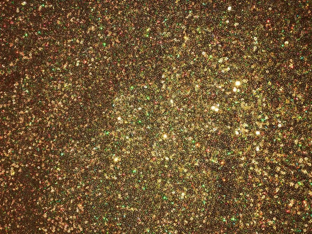 Bright Gold Mini All Over sequin stretch fabric