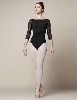 Mirella Mirella Wide Neck Lace 3/4 Sleeve Leotard M1013LM