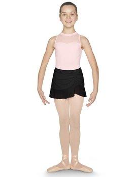 Mirella Mirella Mesh Trim Diamante Side Split Skirt MS131C