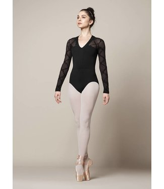 Mirella Mirella V Neck Long Sleeve Leotard M1014LM