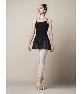 Mirella Mirella Flock Mesh Wide Waistband Skirt Ms154