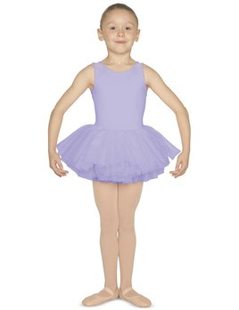 Mirella Mirella Scoop Neck Heart Back Tank Tutu Leotard M1077C