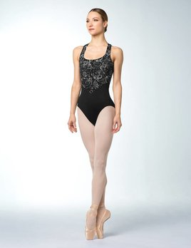 Bloch Bloch Cross Back Floral Mesh Tank Leotard L9875