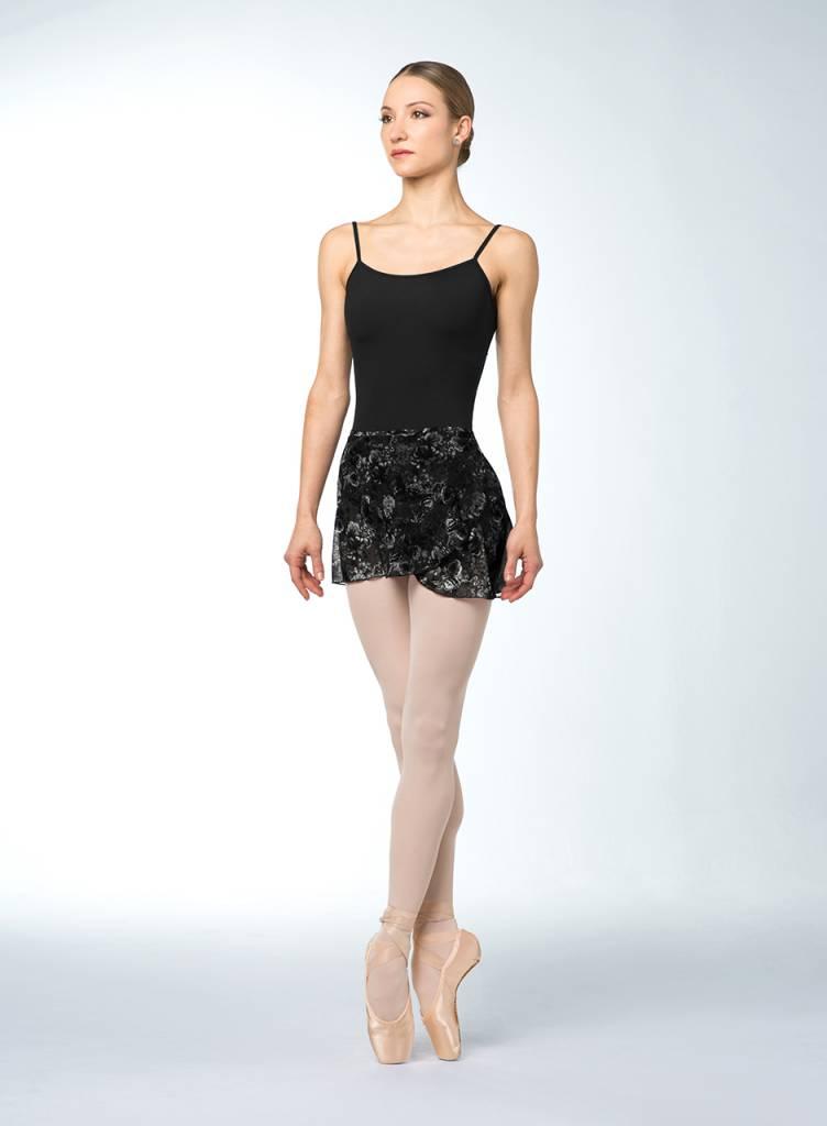 4d9adf12d Bloch Printed Mesh Wrap Skirt R9911 - Black and Pink Dance Supplies, Tulsa