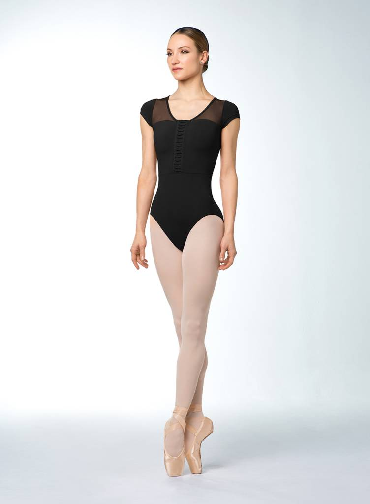 Bloch Lace Back Cap Sleeve Contemporary Leotard