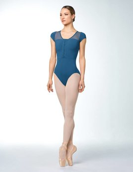 Bloch Bloch Lace Up Cross Back Cap Sleeve Leotard L4852