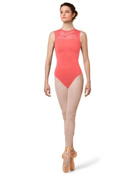 Mirella Mirella High Neck Open Back Tank Leotard M3066LM