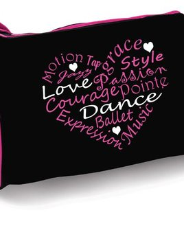 DANSHUZ DANCE WORDS = HEART DUFFEL B730