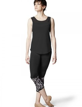 Bloch Bloch Mesh Yoke and Looped Back Tank Top FT5057