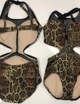 BP Designs Snake Skin Michelle Leotard