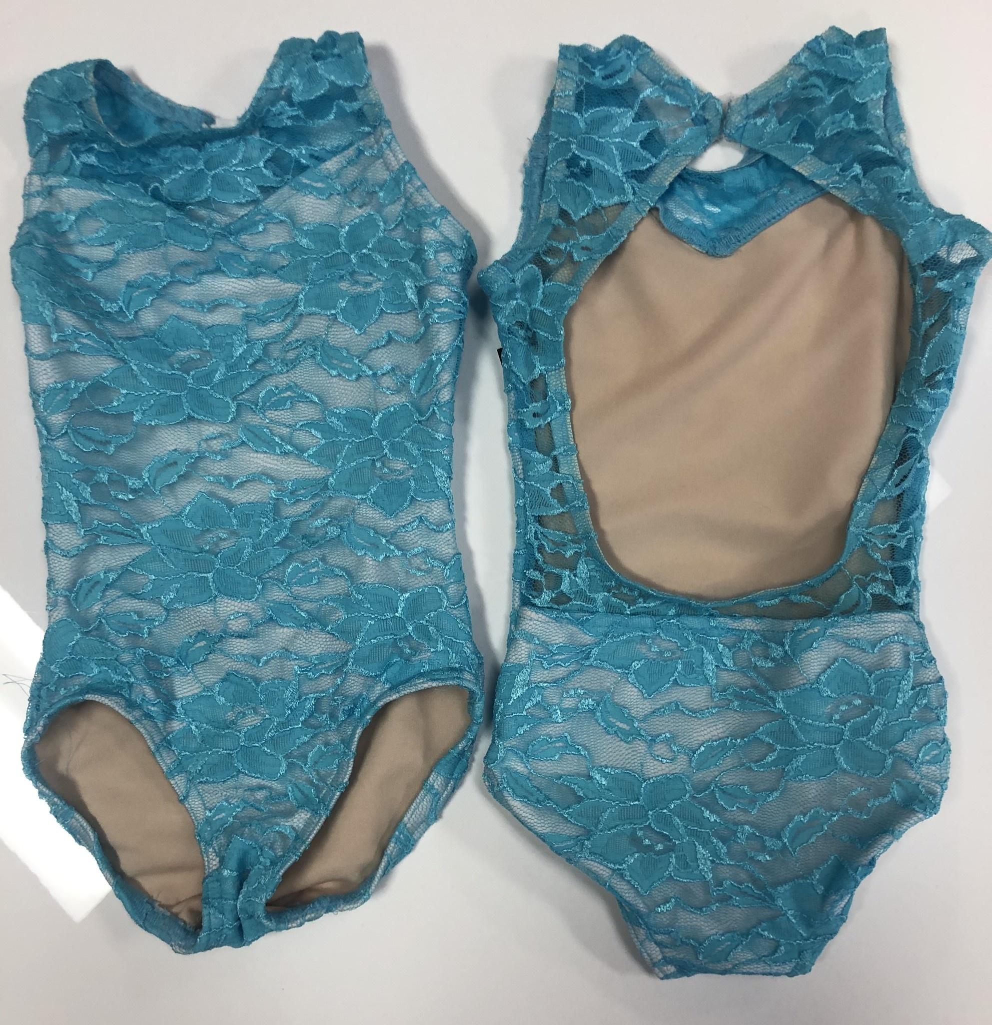 BP Designs Blue Lace Sweetheart Leotard 73325