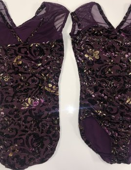 BP Designs Purple Arabesque Leotard