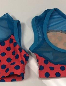 BP Designs Blue Polka Dot Bra Top