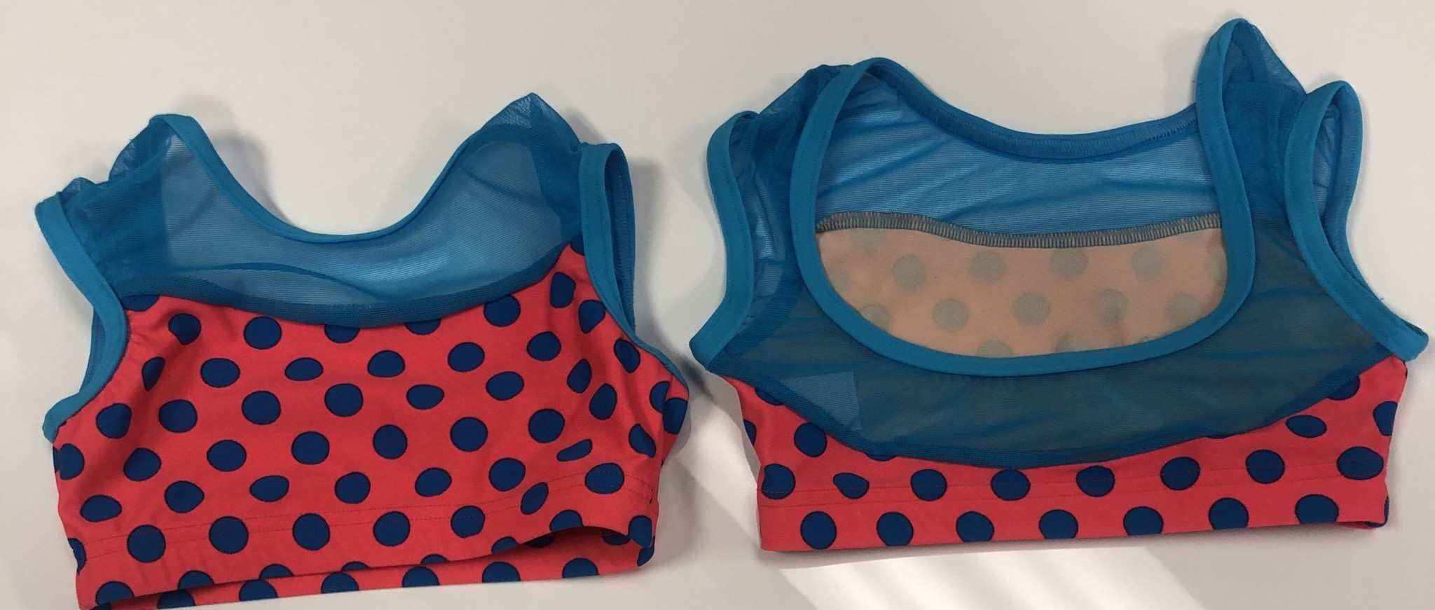 BP Designs Blue Polka Dot Bra Top