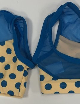 BP Designs Yellow with Blue Polka Dots Bra 34305
