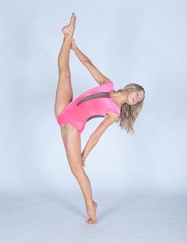 BP Designs Neon Pink Velvet Caroline Leotard