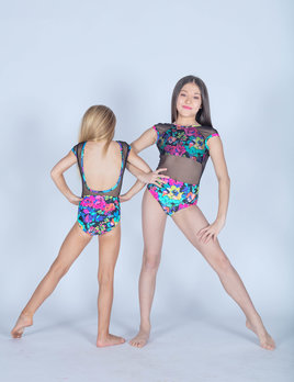 BP Designs Renee Floral Bouquet Leotard