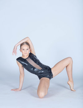 BP Designs Black Distressed Foil Caroline Leotard