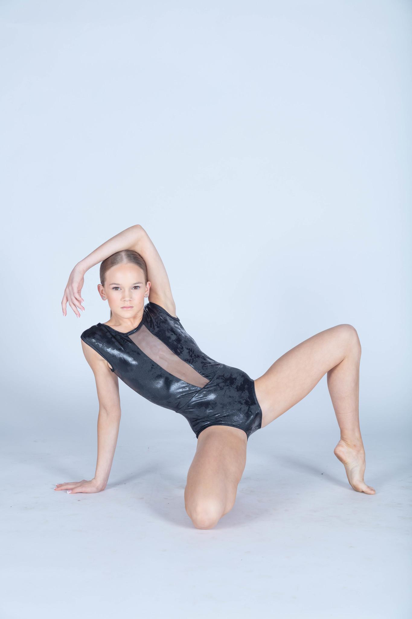 BP Designs Black Distressed Foil Caroline Leotard