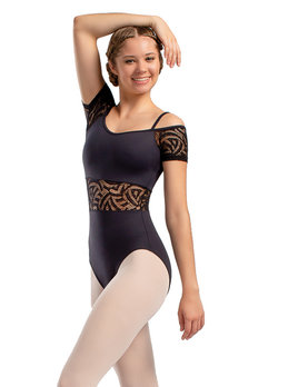 So Danca So Danca Lace Center Short Sleeve Leotard RDE-1838