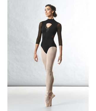 Bloch Bloch Motif Detail Zip Back 3/4 Sleeve Leotard L4856
