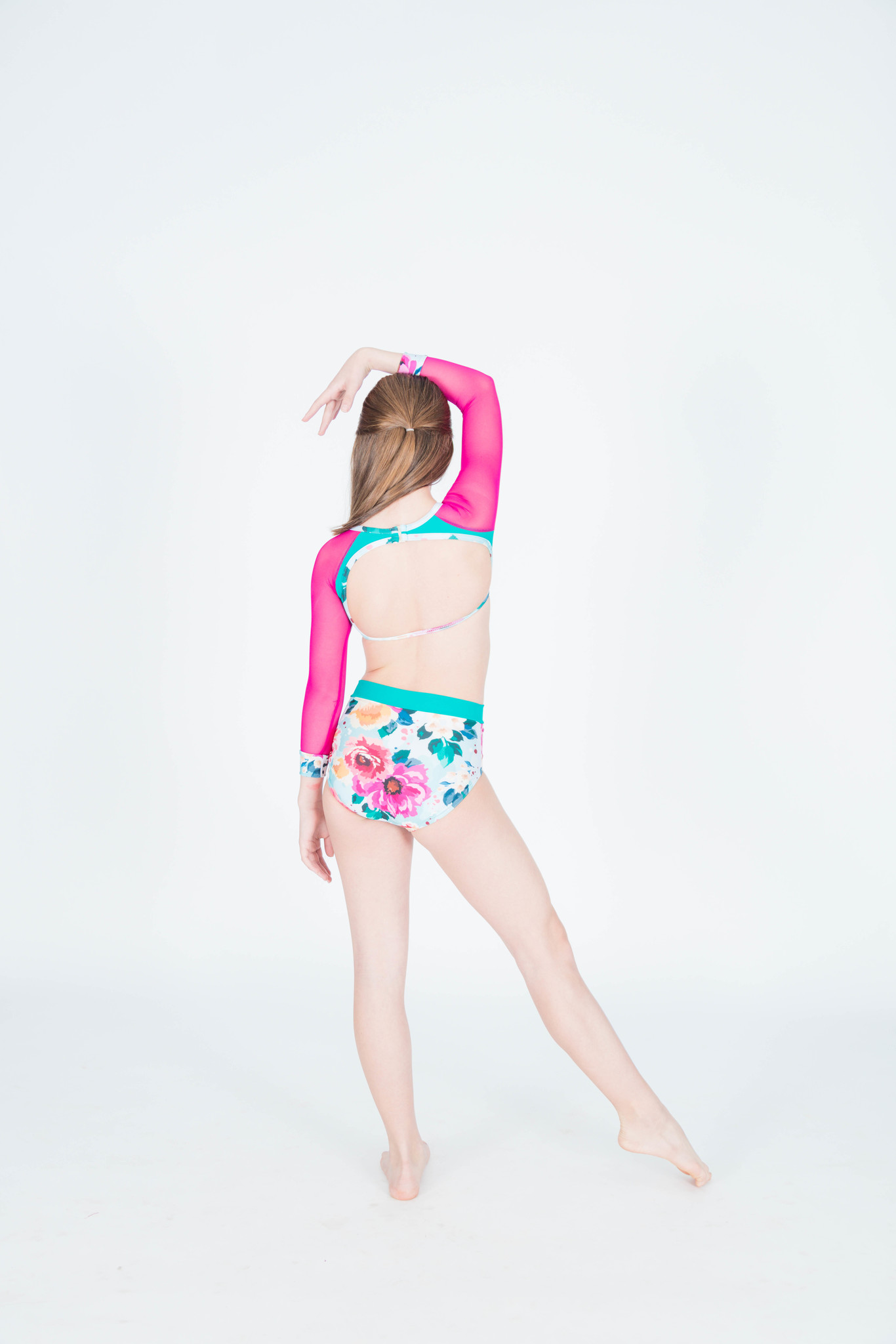 BP Designs Olivia Raspberry Floral Leotard BP Designs
