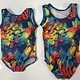 BP Designs Multi Color Feather Madeline Gym Leo BP Designs