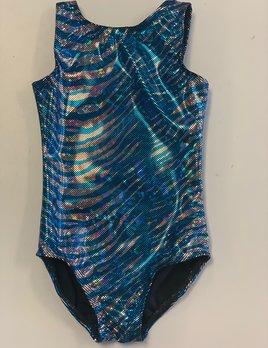 BP Designs Shiny Royal & Silver Zebra Gym Leo BP Designs