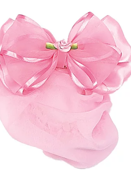 Dasha Designs Dasha Satin Bow Rosebud Snood 4045