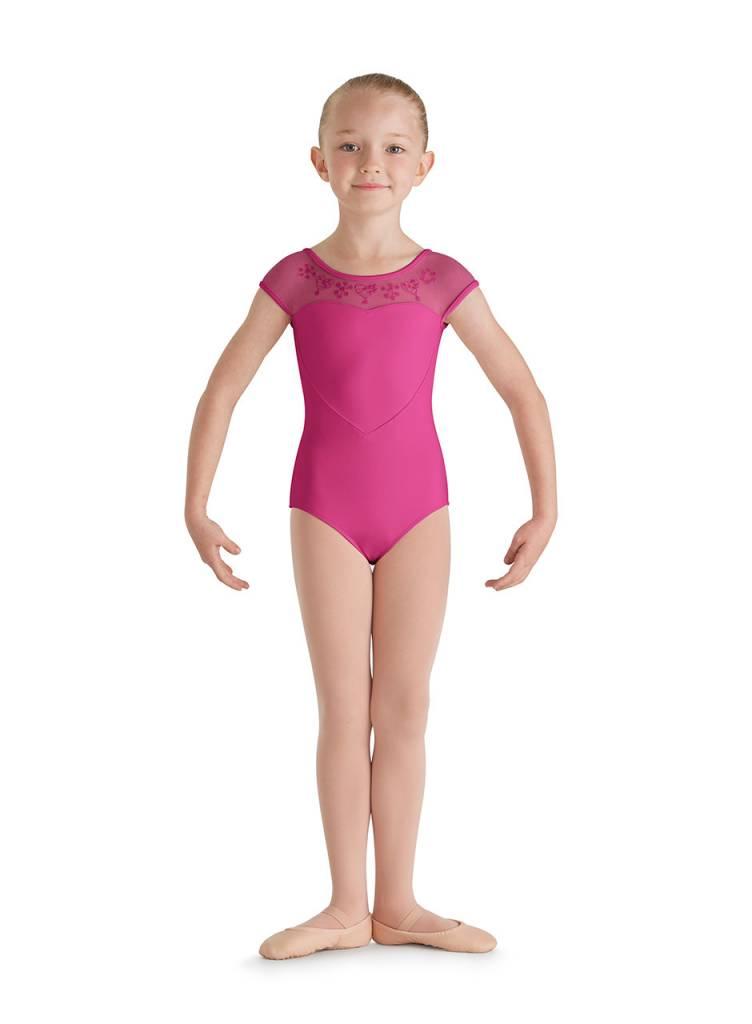 82d94af0314a Bloch Child Mesh Yoke Leotard CL7910 - Black and Pink Dance Supplies ...