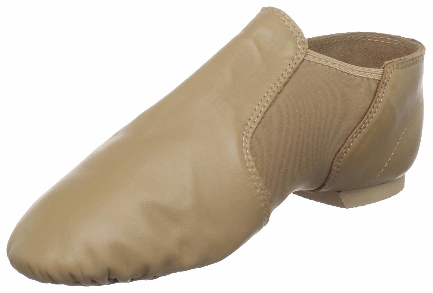 Bloch Dance Girls Neo-Flex Leather and Neoprene Slip On Split Sole Jazz Shoe