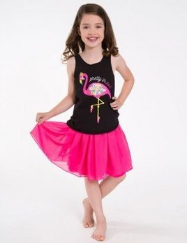 Sugar and Bruno Sugar and Bruno Flamingo Dancer Racerback (Youth One Size)